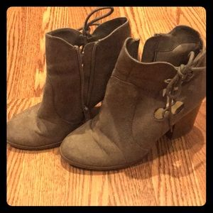 Side Lace Booties